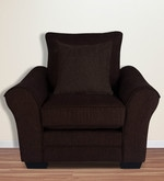 Bordeaux Beauty One Seater Sofa with Throw Cushions in Java Brown Colour