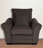 Bordeaux Beauty One Seater Sofa with Throw Cushions In Umber Brown Colour
