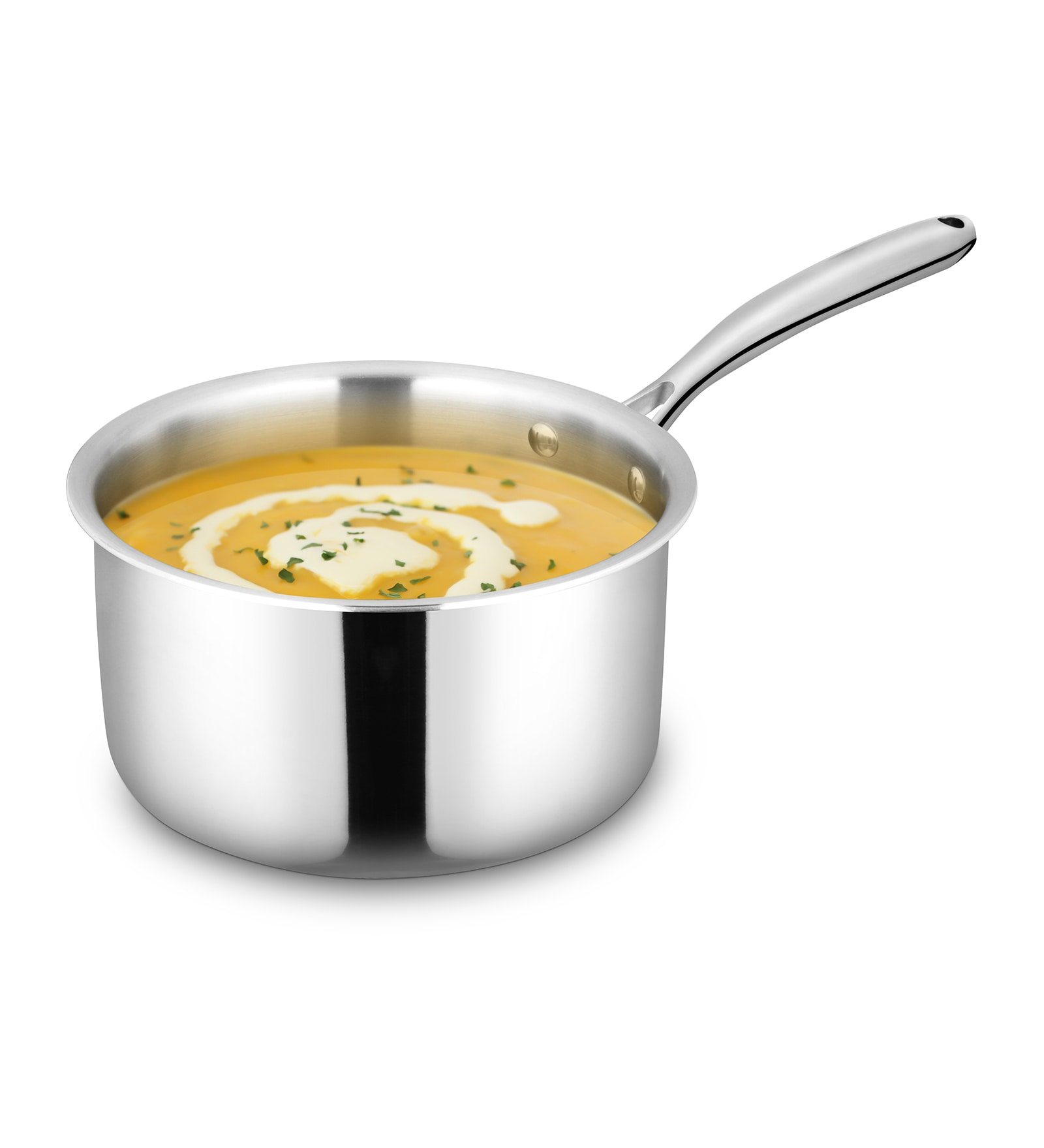 Stainless Steel 1.6L Pantastic Tri Ply Sauce Pan by Bonita