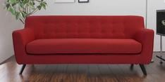 Bogota Three Seater Sofa in Red Colour