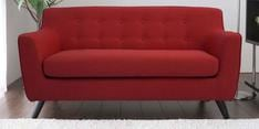Bogota Two Seater Sofa in Red Colour