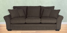 Bordeaux Beauty Three Seater Sofa with Throw Cushions in Umber Brown Colour