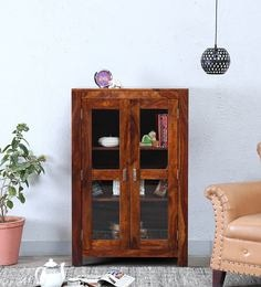 Oriel Two Door Book Case In Honey Oak Finish By Woodsworth