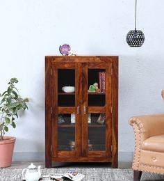 Oriel Two Door Book Case In Honey Oak Finish By Woodsworth