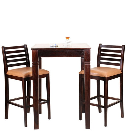 Belo Two Seater Dining Table Set In Honey Oak Finish By Woodsworth