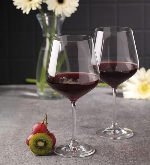 Buy Bohemia Crystal Sandra Glass 570 Ml Wine Glasses