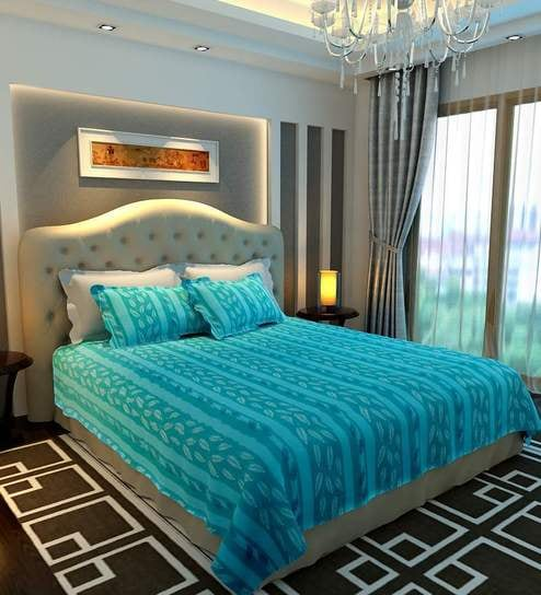 Bombay Dyeing Dew Drops Double Bed Sheet By Bombay Dyeing Online