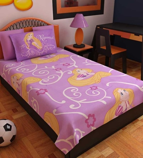 Bombay Dyeing Disney Rapunzel Single Bed Sheet Set