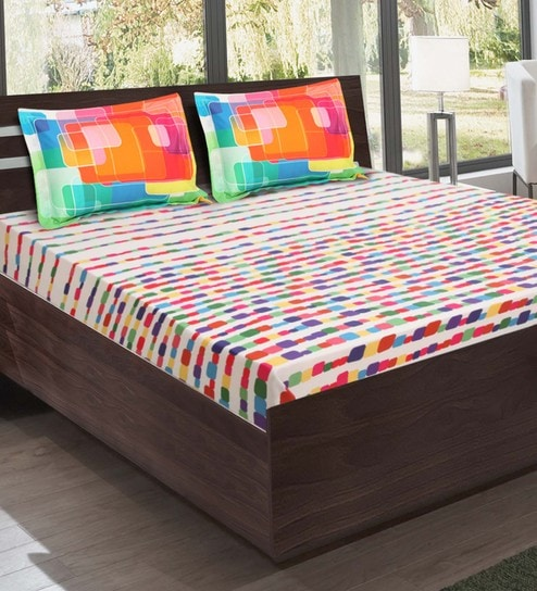 Multicolor Cotton Bedsheet By Bombay Dyeing