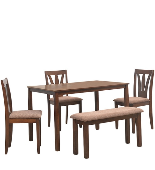 Buy Bony Four Seater Dining Set 1 Table 3 Chairs 1 Bench In