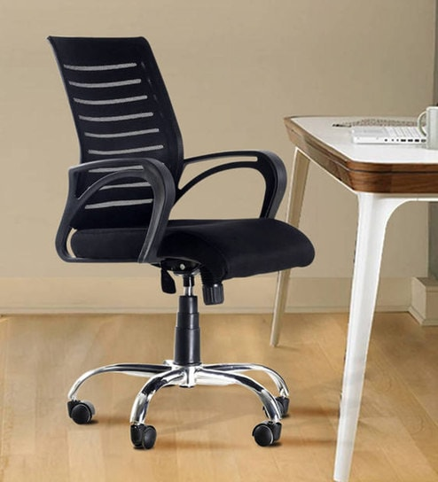 buy boom high back ergonomic chair in black colour by emperor online
