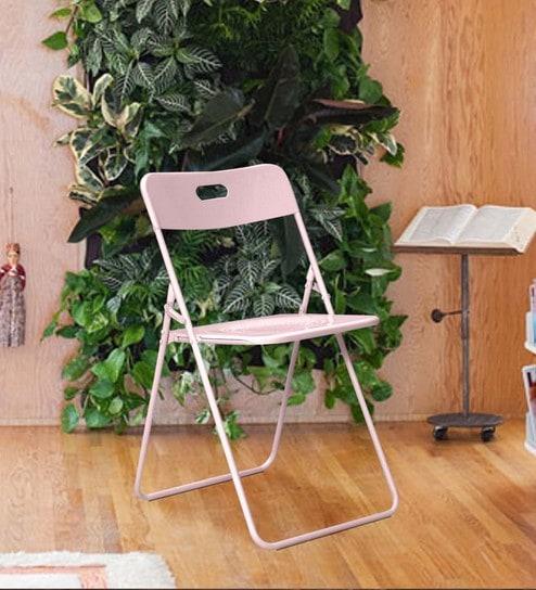 Bordeaux Steel Folding Chair In Pink By Hauser