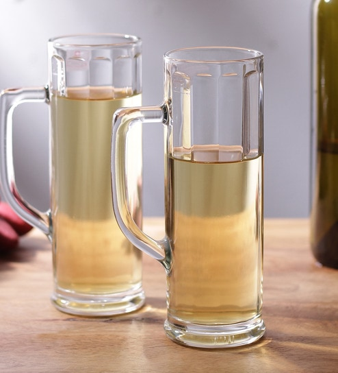 buy borgonovo ireland ottica glass 370 ml beer mug set of 6 online
