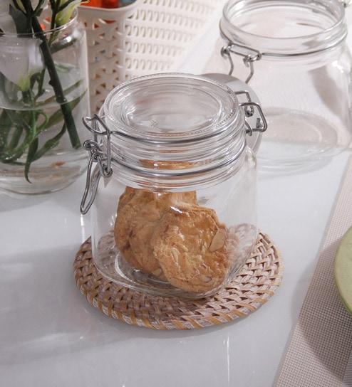 Borgonovo Primizie Hermet Square 750 ML Food Jar