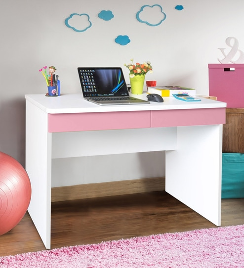 Boston Study Table in Pink by Alex Daisy