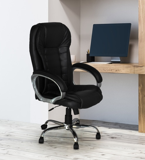 Swell Bottle Executive Chair In Black Colour By High Living Best Image Libraries Weasiibadanjobscom