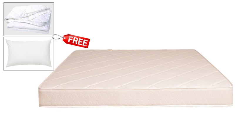 BOOM King Size (78 x 72) Health Semi-Firm Mattress (PILLOW & PROTECTOR FREE)  by Springtek Ortho Coir