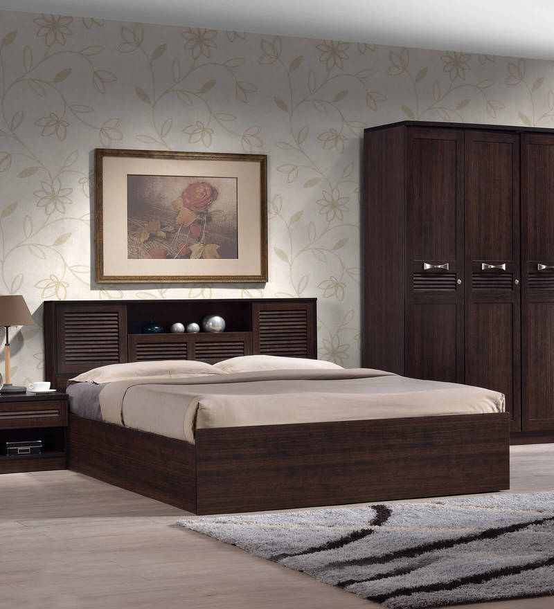 Buy Bolton Queen Size Bed Storage Wenge Finish