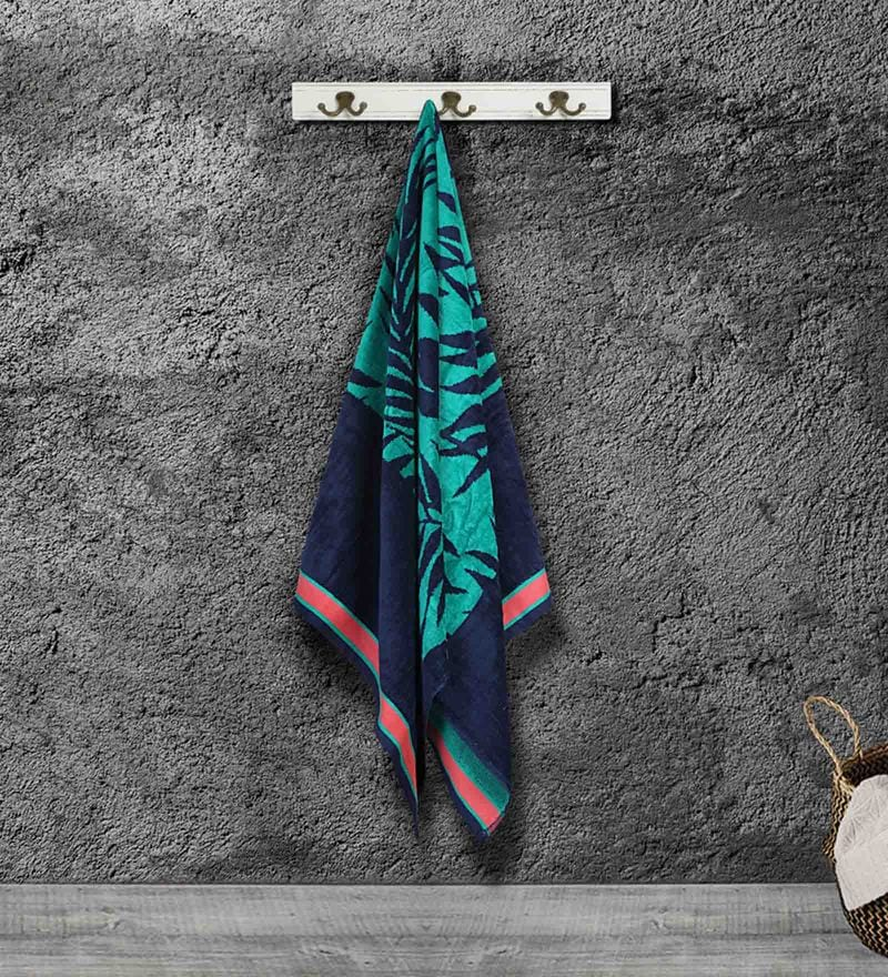 Multicolour Cotton 59 X 30 Inch Bath Towel by Bombay Dyeing