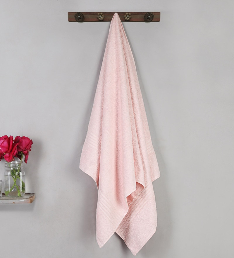 Pink Cotton 47 X 24 Inch Tulip Regular Towel by Bombay Dyeing