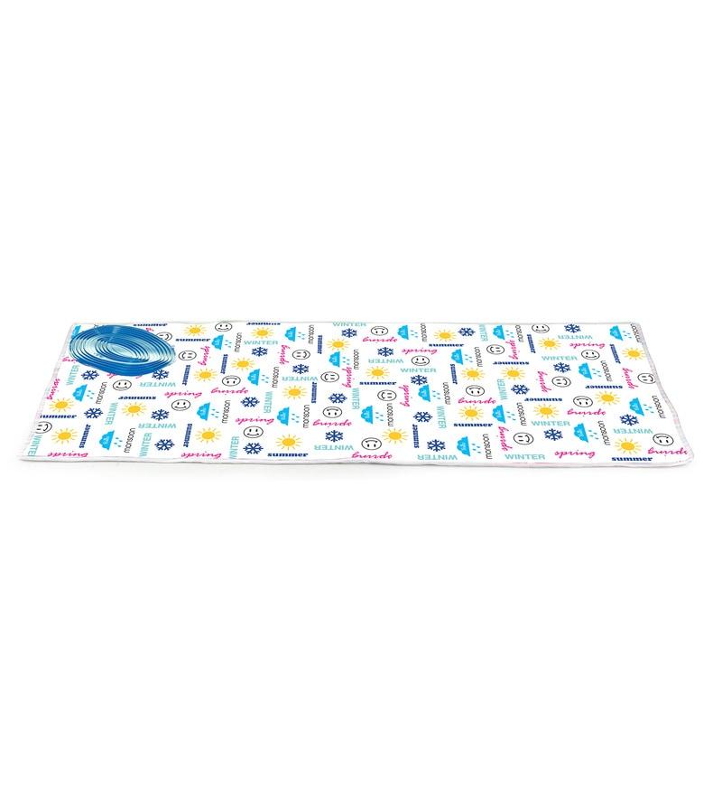 Bonita Alpha Cotton Blue Season Text Silicone Pad Ironing Mat