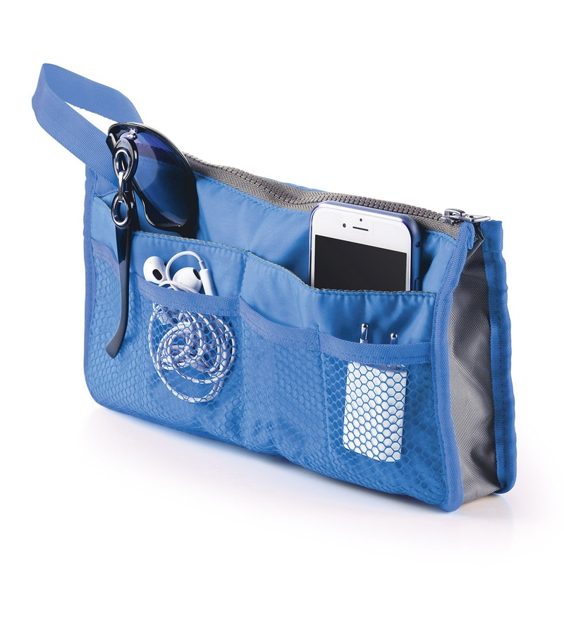Bonita Treat Polyester Blue 9 Pocket Travel Organiser - Set of 2