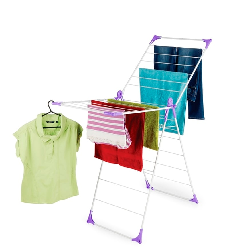Bonita Steel Purple Wonderfold X-Wing Clothes Drying Stand