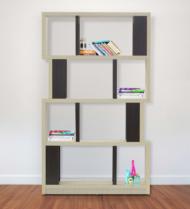 Buy Book Shelf Cum Display Unit In Country Ash Finish By