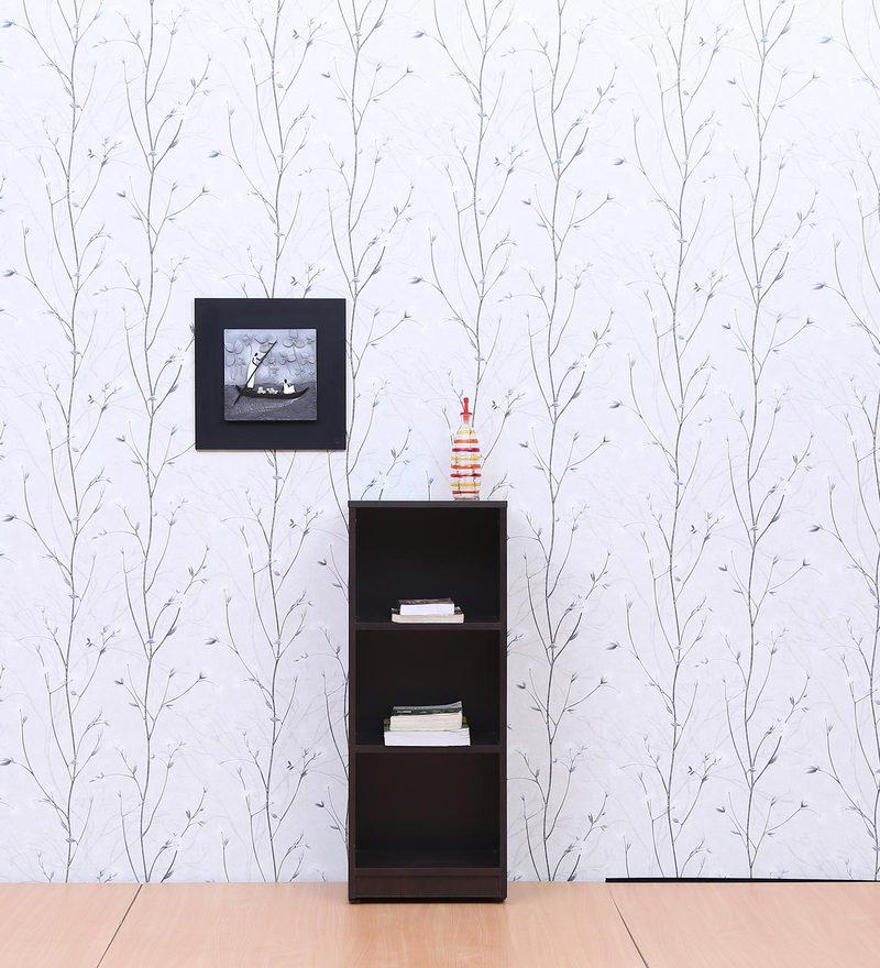 Book Shelf cum Display Unit in Wenge Matte Finish by FullStock