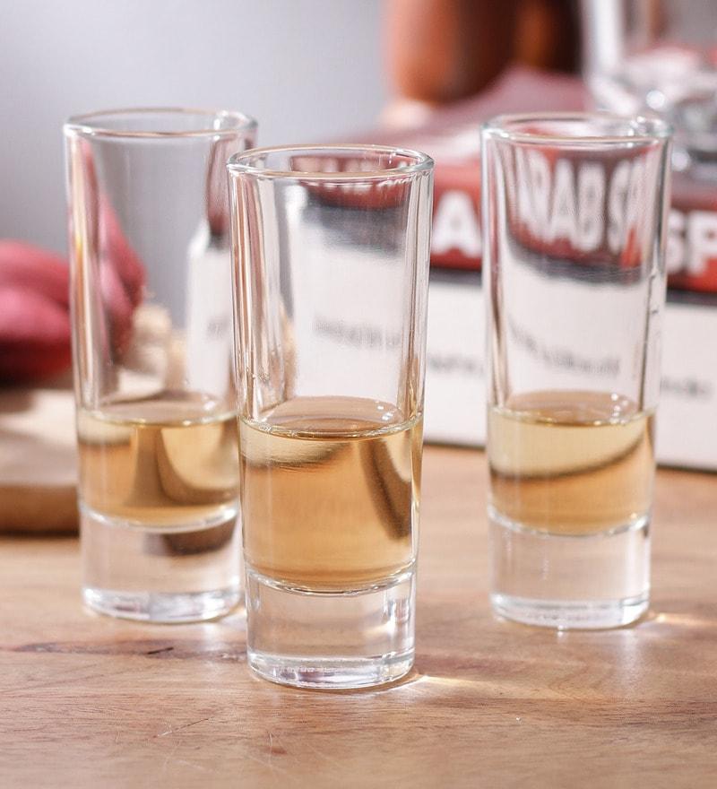 Borgonovo Bic. Indro Glass 60 ML Vodka Glass - Set Of 6