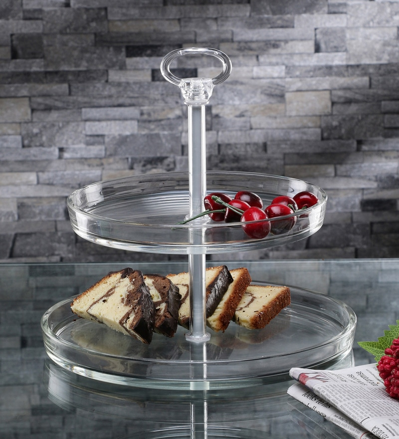 Borgonovo Palladio 2 Tier Glass Cake Stand