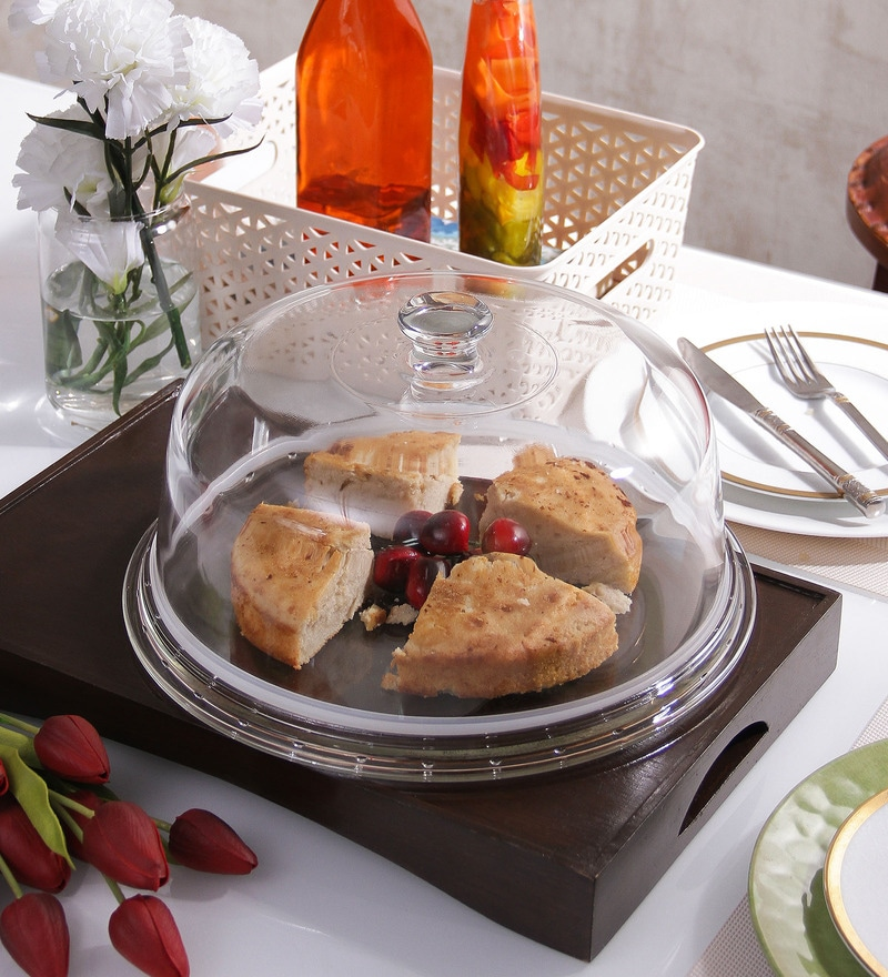 Borgonovo Palladio Glass Cake Plate With Dome