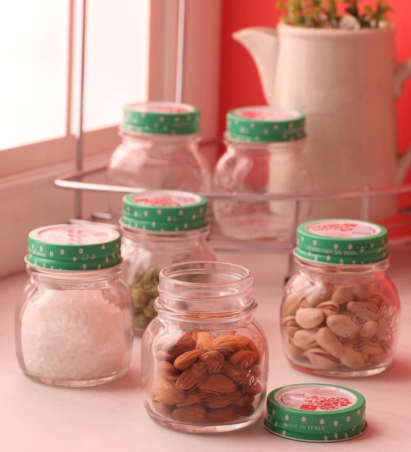 Bormioli Rocco Food Lovers Quattro Green Round 150 ML Jar - Set of 6