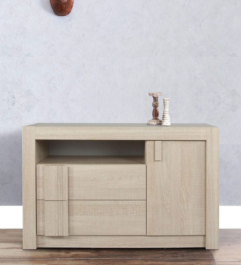 Boston Sideboard with Drawers in Oak Grey Finish by Alsapan