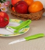 Boffiki Green Plastic Peeler with Knife