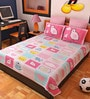 Animal Print Pink Cotton Bedsheet - Set of 2 by Bombay Dyeing