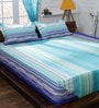 Bombay Dyeing Aqua Cotton Queen Size Bedsheet - Set of 3