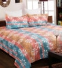 Beige Cotton Queen Size Bedsheet - Set of 3 by Bombay Dyeing