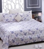 Blue 100% Cotton Queen Size Bed Sheet - Set of 3 by Bombay Dyeing