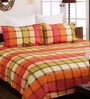 Brown Cotton Queen Size Bedsheet - Set of 3 by Bombay Dyeing