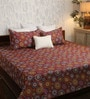 Brown Poly Cotton Queen Size Bedsheet - Set of 3 by Bombay Dyeing
