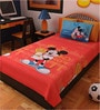 Bombay Dyeing Cartoon Print Single Cotton Bedsheet with Pillow Cover