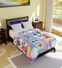 Bombay Dyeing Blue Cotton Disney 86 x 55 Inch Single Bed Comforter