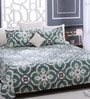 Green 100% Cotton Queen Size Bed Sheet - Set of 3 by Bombay Dyeing
