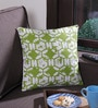 Bombay Dyeing Green Cotton 16 x 16 Inch Cardinal Printed Abstract Cushion Cover