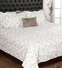 Grey Cotton Queen Size Bedsheet - Set of 3 by Bombay Dyeing