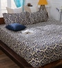 Bombay Dyeing Grey Cotton Queen Size Bedsheet - Set of 3