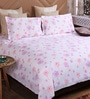 Lavender Cotton King Size Bedsheet - Set of 3 by Bombay Dyeing
