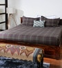 Menchester Brown Cotton Solid Double Bed Sheet (with Pillow Covers) by Bombay Dyeing
