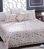 Multicolour 100% Cotton Queen Size Bed Sheet - Set of 3 by Bombay Dyeing